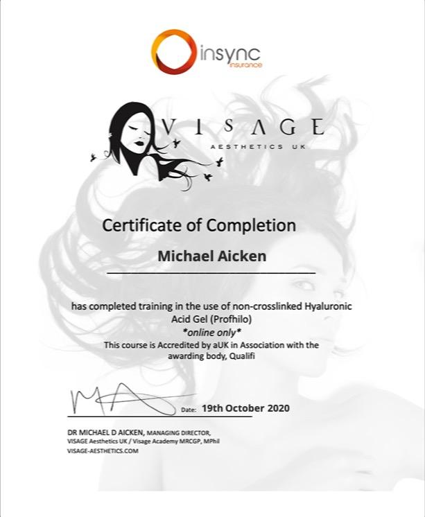 Certificate for User Michael Aicken